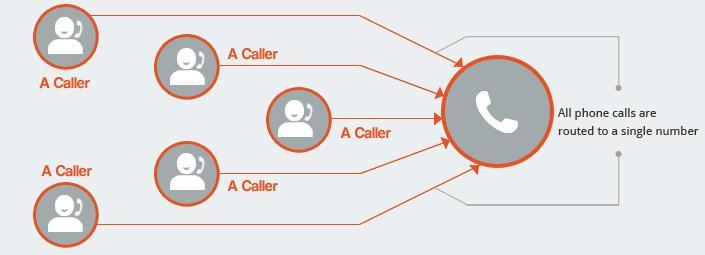 1300 number and 1800 number standard call routing infographic